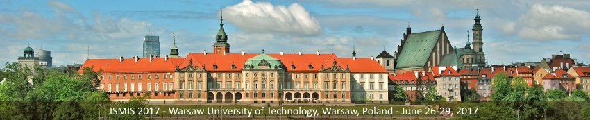 ISMIS 2017, June 26-29, Warsaw, Poland